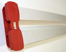 10er Paket NEUE Doppel-Kautschukkappen zur Befestigung von Leisten in 8mm x 35mm
