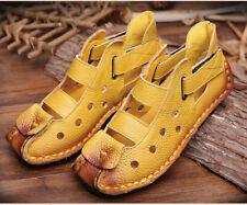 Soft Bottom Flat Genuine Leather Women Shoes  Leisure Sandals Handmade Sandals