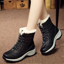 Women's Snow Boots Lace up Winter Waterproof Plus Velvet High Sport Shoes Hot
