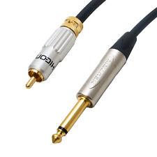 """1/4"""" Jack a RCA de bloqueo conduce. Neutrik, Hicon, Van Damme Cables Audiophile."""