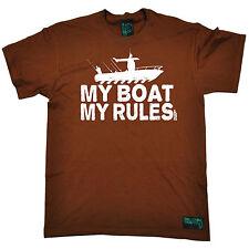 La mia barca le mie regole da uomo Vermi che ANNEGANO T-shirt Tee Regalo Di Compleanno Divertente Pesca