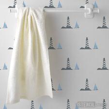 Lighthouse stencil, reusable wall stencils, not a sticker, DIY stencilling 10254
