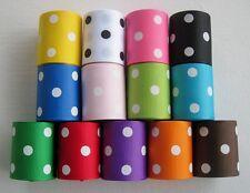"1.5"" Grosgrain Ribbon POLKA DOTS~2 YARDS~You pick the color"