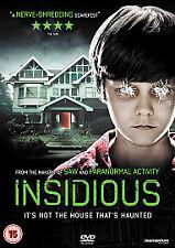Insidious DVD (2011) Patrick Wilson New Sealed dvd