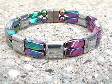 Rainbow Silver 100% Magnetic Hematite Bracelet Anklet 2 Row