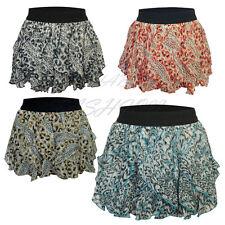 Ladies Womens Girls Leopard Print Elasticated Tutu Skirt Dance Hen Party Skirt