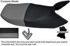 BLACK & GREY CUSTOM FITS HONDA PAN EUROPEAN ST 1100 LEATHER DUAL SEAT COVER