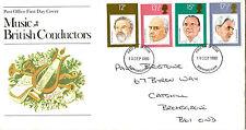 10 SETTEMBRE 1980 famosi CONDUTTORI Ufficio Postale Primo Giorno Custodia Birmingham IED