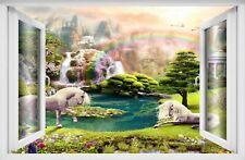 Unicorn 3D Wall Art Sticker Decal Poster Enchanted Forest Fantasy Kids Girl AZ31