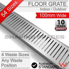 LAUXES Wide Linear Standard Strip Floor Shower Grate Waste Drain Indoor Outdoor
