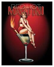 91179 RED HOT MARTINI ART PRIN RALPH BURCH Decor WALL PRINT POSTER CA