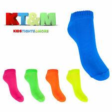New Children Kids Girls Teens Women Ladies Neon Bright Ankle Socks