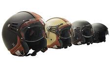 Rollerhelm, Motorradhelm, Jethelm, Halbschalenhelm Leder Helm, Größe S, M, L, XL