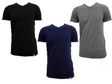 3 t-shirt uomo mezza manica scollo V in cotone bielastico LOTTO art. LT1001