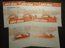(5) Vintage 1972-73 Ski-Doo Blizzard Racing Bulletins Duhamel (816)