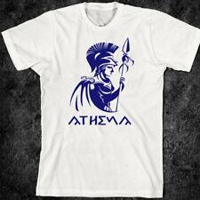 Greek War T-Shirt Greco Roman Gladiator Spartacus 300 Conan Helmet Athena Tee