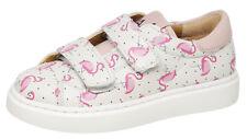 Maá Pelle Sneaker c285 Slipper Scarpe Ragazza Bianco Flamingos MIS. 26 - 32 NUOVO