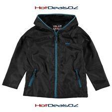Brand New Lee Cooper Windbreaker Jacket Boys Black - Many sizes!