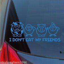 I Don't Eat My Friends vinyl sticker decal vegetarian vegan animal cruelty PETA