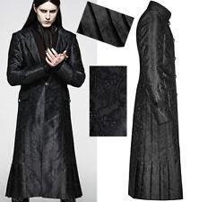 Manteau satin jacquard gothique dandy victorien plissé luxe stylé PunkRave homme