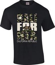 Camo California Republic State Bear Cali T-Shirt