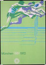 1972 Munich Olympics Athletics Poster  A3 Print