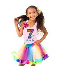 Bubblegum Divas Unicorn Shirt Rainbow 7th Birthday Party Outfit Personalized