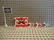 (B7 / 5 ) LEGO WESTERN KAVALLERIE FORT FLAGGE 2335pb002 2335px4 6967 GEBRAUCHT