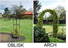 Metal Obelisk & Garden Arch Trellis for Climbing Plant Roses Flower