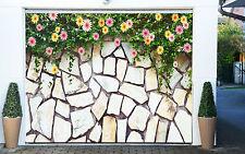 3D Pietre E Fiori Garage Porta Stampe Parete Decorazione Murale AJ WALLPAPER IT