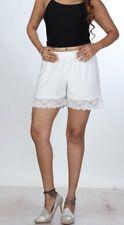Women's High waist shorts Ladies White Light Weight Lace Girls Short Shorts