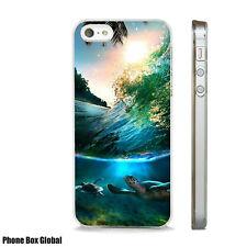 SEA TURTLE MARINE LIFE NATURE CASE FITS  IPHONE 4 4S 5 5S 5C 6 6S 7 8 SE PLUS X
