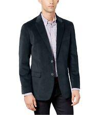 Tommy Hilfiger Mens Velvet Stretch Two Button Blazer Jacket