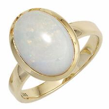 Ring Damenring mit Opal oval, 585 Gold Gelbgold Goldring Opalring schlicht