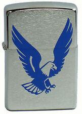 Zippo Eagle Adler chrom brushed  auf Wunsch mit persönlicher Gravur