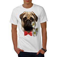 Wellcoda Pug Puppy Admirer Mens T-shirt, Date Graphic Design Printed Tee