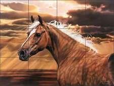 Ceramic Tile Mural Kitchen Backsplash McElroy Horse Equine Art KMA011