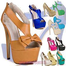 Scarpe donna decollete decoltè plateau tacchi alti nuove sandali OUTLET