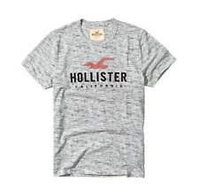 Hollister Mens Heather Grey Crew Neck Graphic Tee T-Shirt