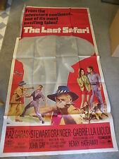 "The Last Safari Kaz Garas, Stewart Granger Poster 41"" X 84"" #67/288 Movie"