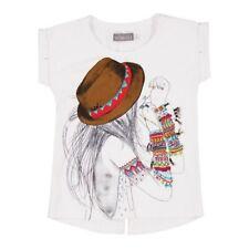 Niñas Camiseta Blanco Girlie von BOBOLI TALLA 98 104 110 116 128 140 152 164
