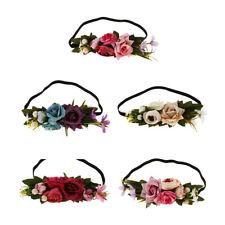 Boho Ladies Flower Festival Wedding Garland Forehead Hair Headwear Head Band