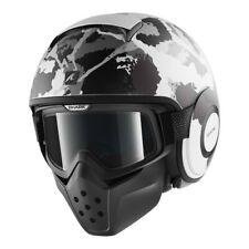Shark Drak Kurtz Motorcycle Helmet White/Gray/Camo