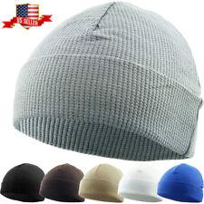 Fisherman Beanie Thermal Cotton Watch Cap Winter Hat Skull Cap Ski