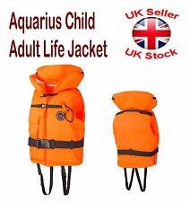 Aquarius Child Adult Life Jacket Buoyancy 100N PFD With Whistle ISO-4 CE 6 Sizes