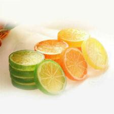 2/3Pcs Lifelike Decorative Artificial Plastic Lemon Slices Home Decor Fake Fruit