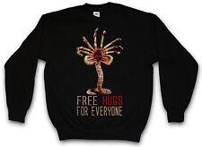 FREE HUGS FOR EVERYONE SWEATSHIRT PULLOVER Facehugger  Weyland Ripley Fun Alien