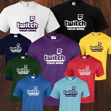 Camiseta Nueva servicio de transmisión en vivo de flujo de juegos Twitch ventiladores viral, 8 Colores