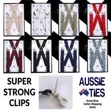 Men's / Boy's Braces - X Back, Regular or Extra Large Suspenders 2.5cm Mens Boys