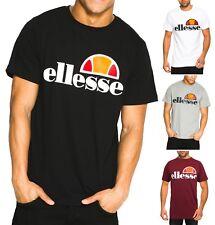 ellesse Classic Prado Print Logo T-Shirt Retro Sports Print Top Casual Tee